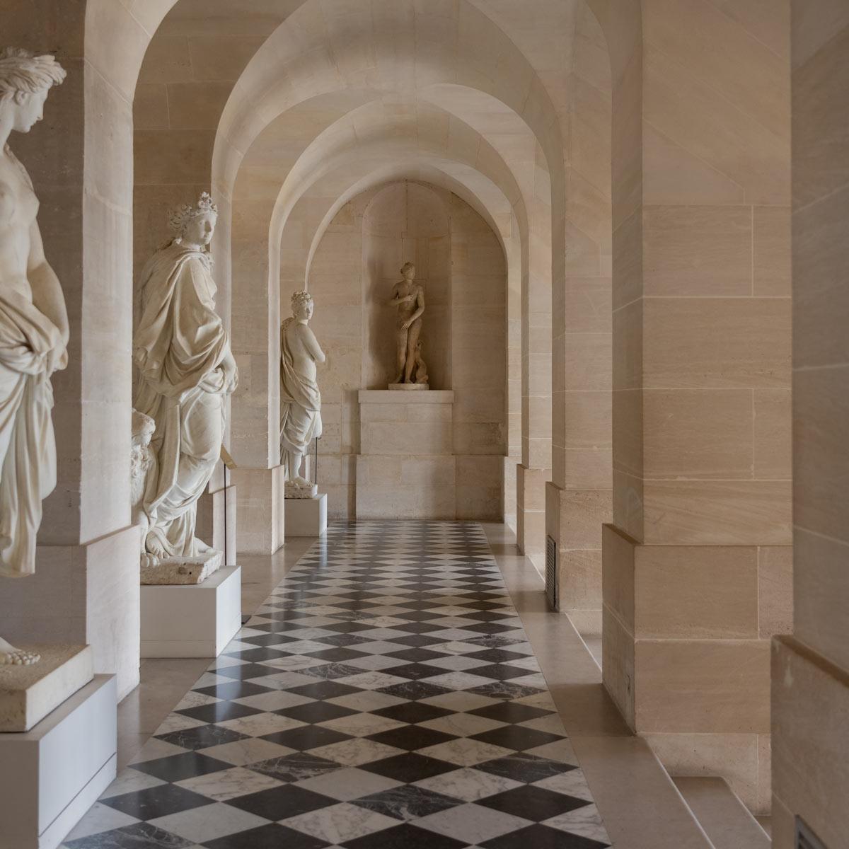 Interior Walkway into Courtyard of Chateau de Versailles