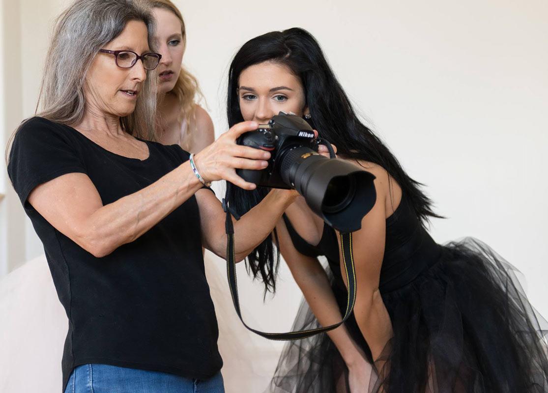 Working with dancers Kenzy Hansen & Bridget Codoni
